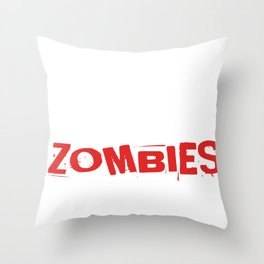 Running Training Zombie Fast Food Funny Gift Throw Pillow