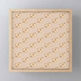 Sleepy Fawn Pug Pattern Framed Mini Art Print