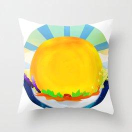 Wheel Series : Summer Solstice Medallion Throw Pillow