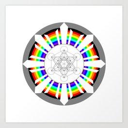 Metatron's Cube in Dharmachakra Art Print