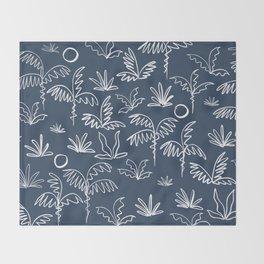 Oasis (navy) Throw Blanket