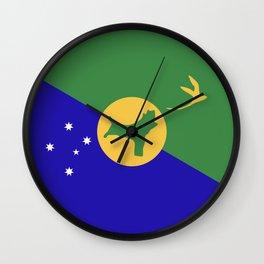 Christmas Island flag emblem Wall Clock