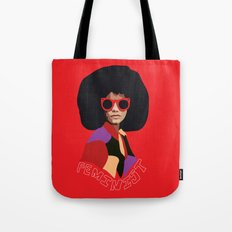 Feminist Afro Tote Bag