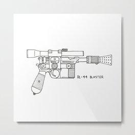Blaster Metal Print