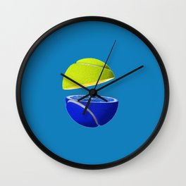 Tennis ball lemon Wall Clock