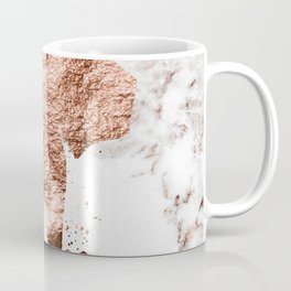 Elephant - rose gold marble Coffee Mug
