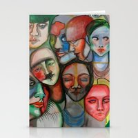 it crowd Stationery Cards featuring crowd by Elina Larsson