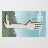 hands Area & Throw Rugs featuring Hands by Bwiselizzy