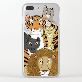 Surprised Big Cats Clear iPhone Case