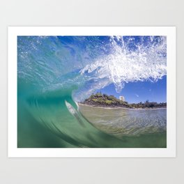 Behind The Wave Art Print