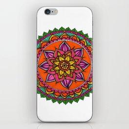 Mandala hojas iPhone Skin