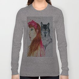 She Wolf Long Sleeve T-shirt