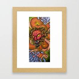Zhulong Dragon Framed Art Print