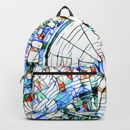 Glass stain mosaic 5 - circle Backpack