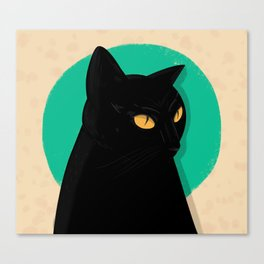 Bowie the cat.  Canvas Print