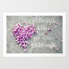 Kisses On The Sidewalk Art Print