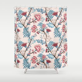 Vector illustration of a seamless floral pattern. Indian and oriental style Shower Curtain