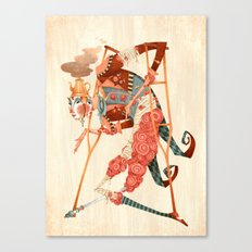 Cotton Candy Crutches Canvas Print