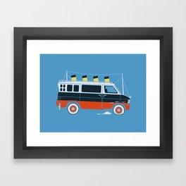 The Titanic Van Sinks Framed Art Print