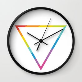 Pride: Rainbow Geometric Triangle Wall Clock