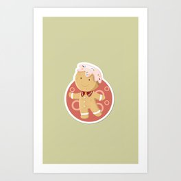Doll Xmas Icon Art Print