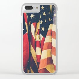 American flag 4 Clear iPhone Case