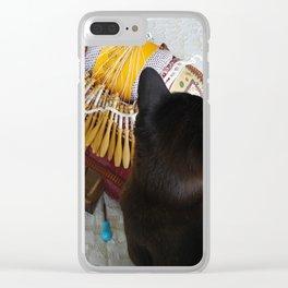Annabelle et le carreau à dentelle Clear iPhone Case