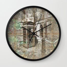 London Called Wall Clock