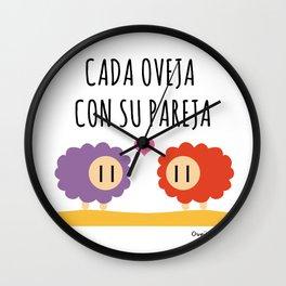 Cada oveja con su pareja Wall Clock