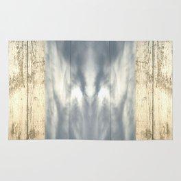 landscape 001: telegraph sky over white woods Rug