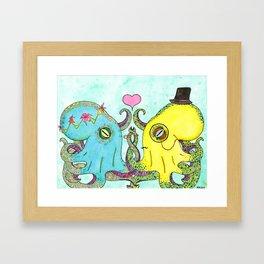 Octopus Wedding Framed Art Print