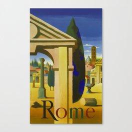 Vintage Rome Italy Travel Canvas Print