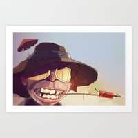 borderlands Art Prints featuring Borderlands - SHADE by BEN Olive