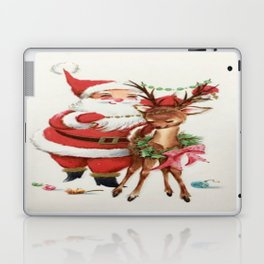Santa and reindeer Laptop & iPad Skin