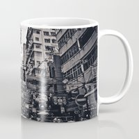 china Mugs featuring China Town by Chad Madden