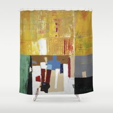 Formality Colorful Modern Art Painting Shower Curtain
