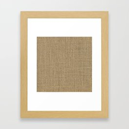 Natural Woven Beige Burlap Sack Cloth Framed Art Print
