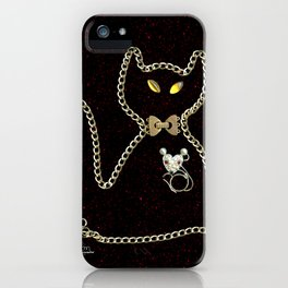 I Love Me Mouse! Cat and Mouse Jewelry Scanography iPhone Case