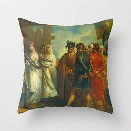 Benjamin West - The Burghers of Calais Throw Pillow