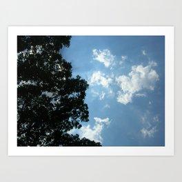 Luminescent Clouds Art Print
