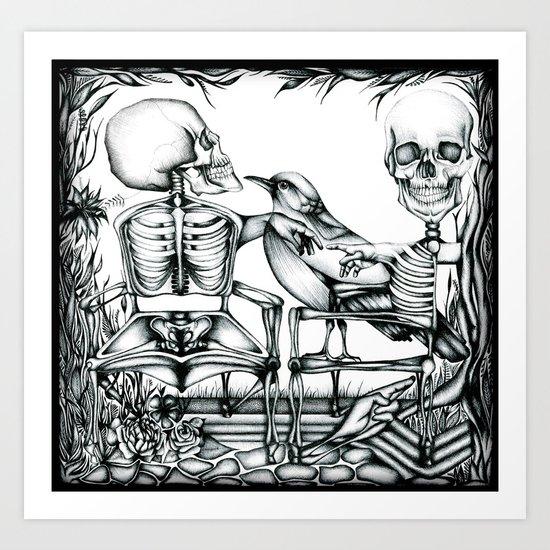 Sit Long Art Print