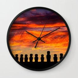 EASTER ISLAND SUNRISE Wall Clock