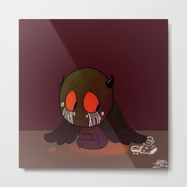 Isaac is Sad: Demon Metal Print