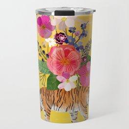 Tiger Bloom Travel Mug
