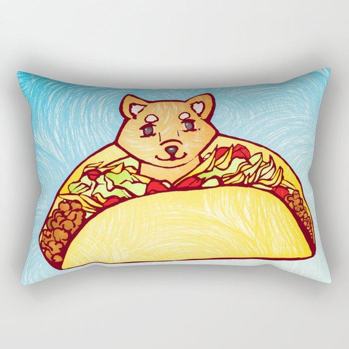 Shiba Taco Rectangular Pillow