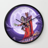 dracula Wall Clocks featuring Dracula by cheesecake