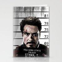 tony stark Stationery Cards featuring Tony Stark jailed by MkY111