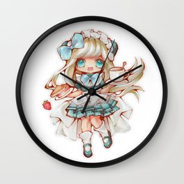Kawaii Waitress Wall Clock
