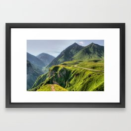 Mountains, green, gigantic, steep and rolling Framed Art Print