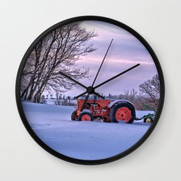 Case and Plow Wall Clock
